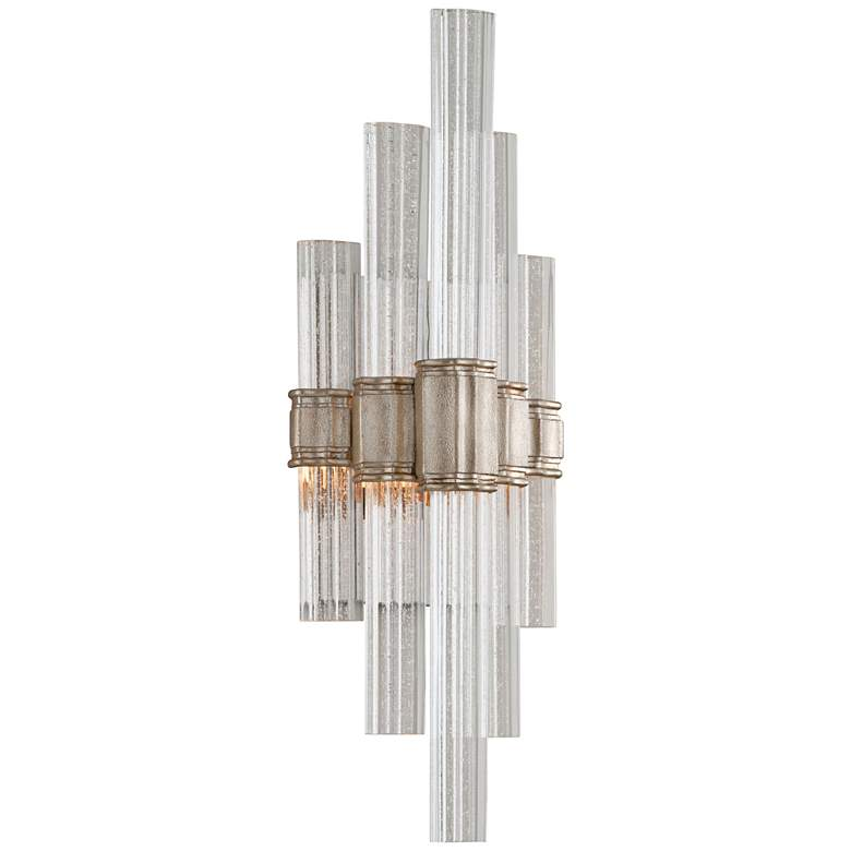 """Corbett Voila 20"""" High Modern Silver Leaf LED"""