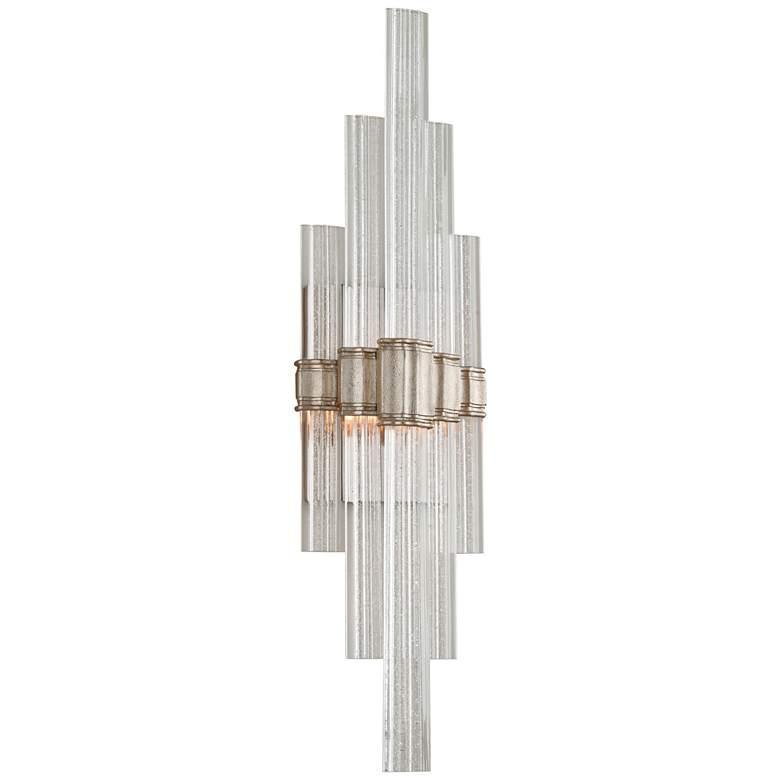 "Corbett Voila 27 1/4""High Modern Silver Leaf LED Wall Sconce"