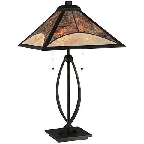 Quoizel Theory Dark Bronze 2-Light Table Lamp