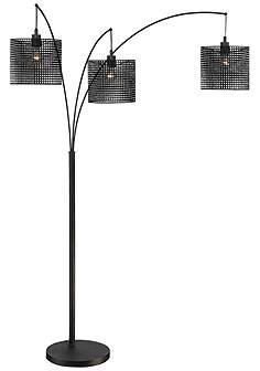Quoizel arc lamps floor lamps lamps plus quoizel stargaze bronze black mesh 3 light arc floor lamp aloadofball Images