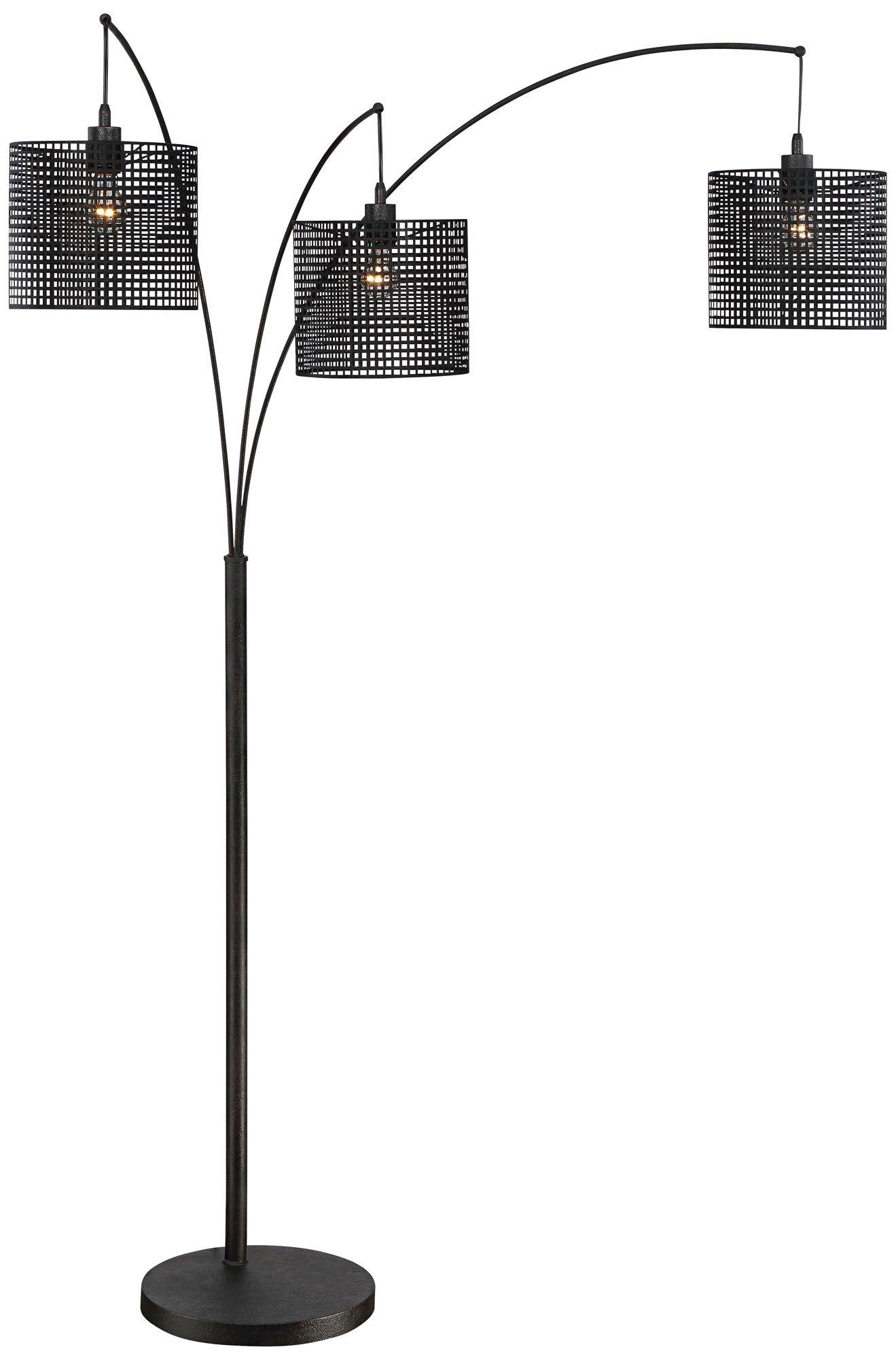 Quoizel Stargaze Bronze Black Mesh 3 Light Arc Floor Lamp