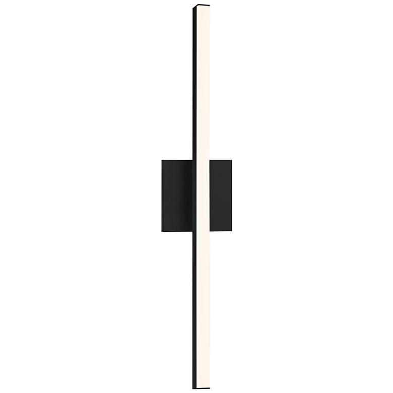 "Sonneman Stix 24 3/4"" High Satin Black LED Wall Sconce"
