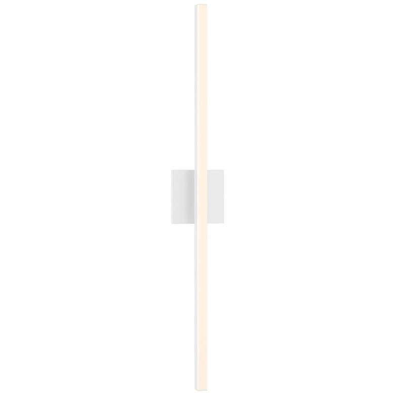 "Sonneman Stix 32 1/4"" High Satin White LED Wall Sconce"
