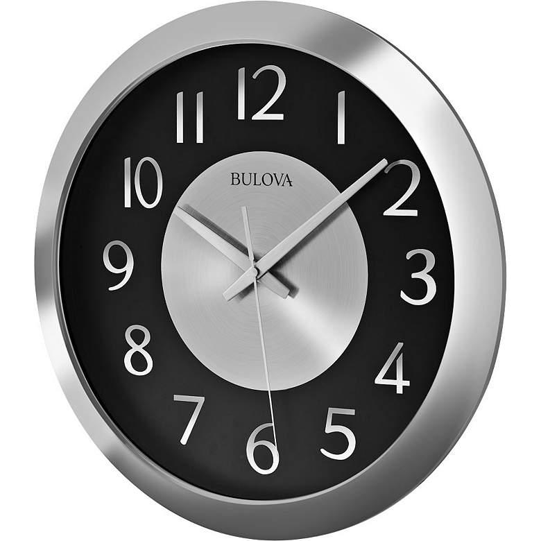 "Bulova Music Streamer Silver 16""W Bluetooth Wall Clock"
