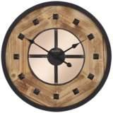 """Bulova Murray Hill Aged Iron 24"""" Round Wall Clock"""