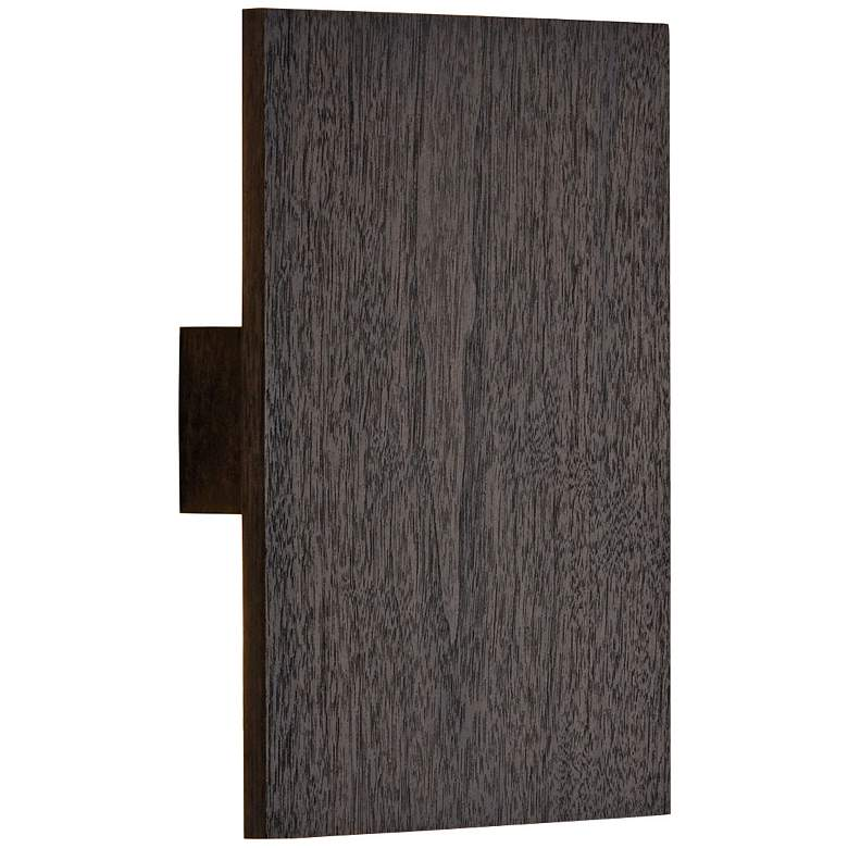 """Cerno Tersus 10 3/4""""H Dark Stained Walnut LED Wall Sconce"""