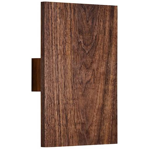 "Cerno Tersus 10 3/4"" High Oiled Walnut LED Wall Sconce"