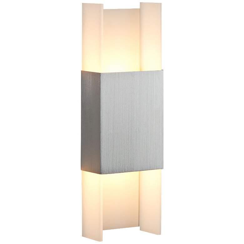 "Cerno Ansa 15 1/2"" High Brushed Aluminum LED Wall Sconce"