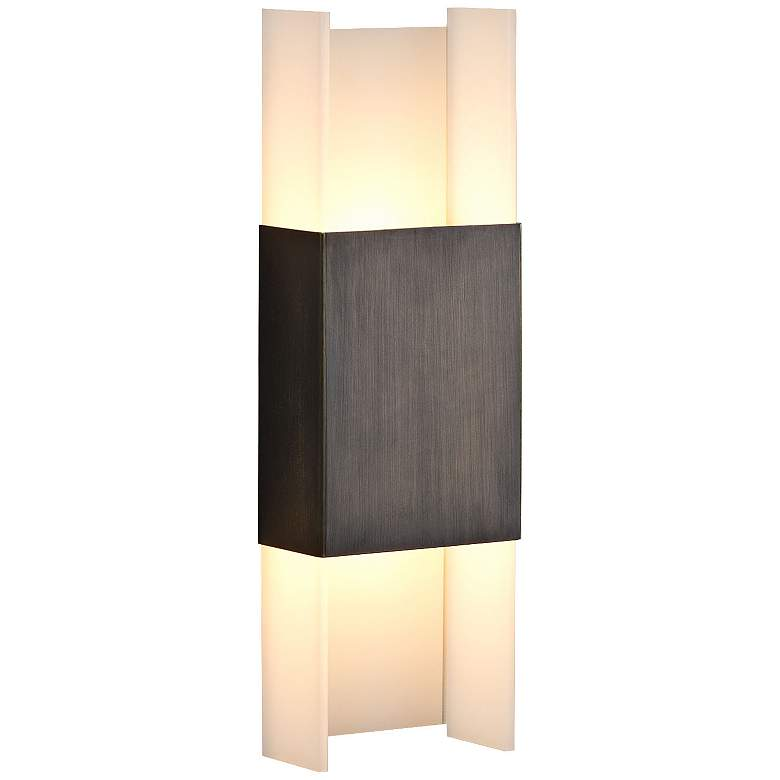 "Cerno Ansa 15 1/2"" High Oiled Bronze LED Wall Sconce"