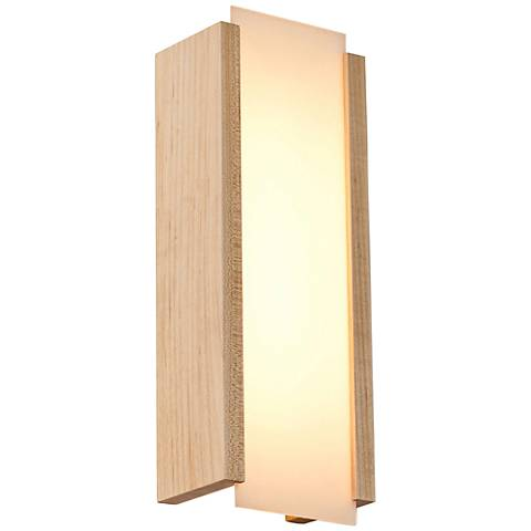 "Cerno Capio 17"" High Maple LED Wall Sconce"