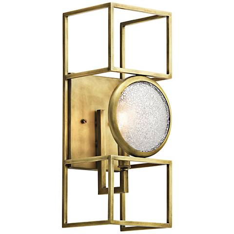 "Kichler Vance 16"" High Natural Brass Wall Sconce"