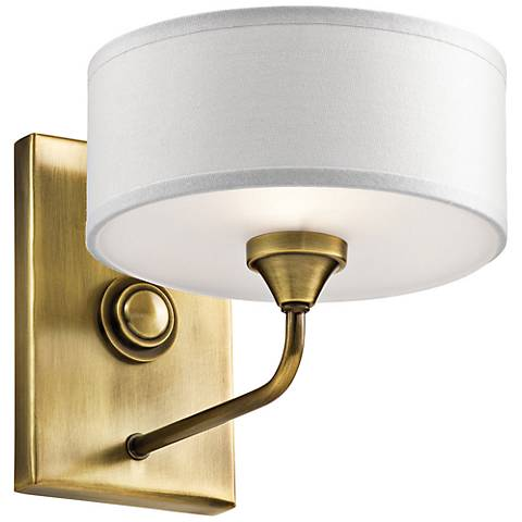 "Kichler Lucille 7"" High Natural Brass Wall Sconce"