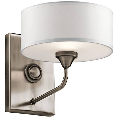"Kichler Lucille 7"" High Classic Pewter Wall Sconce"
