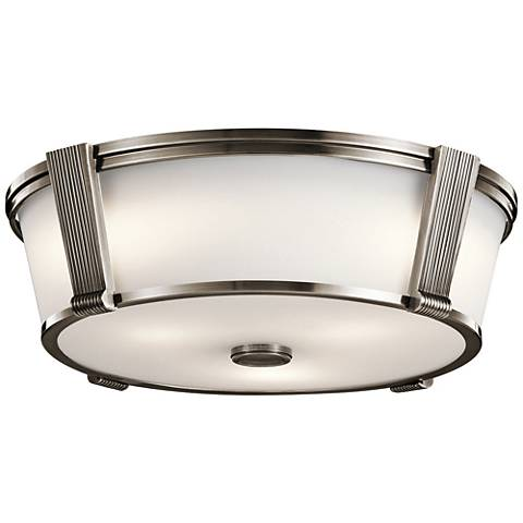 "Grayson 17"" Wide Classic Pewter Ceiling Light"