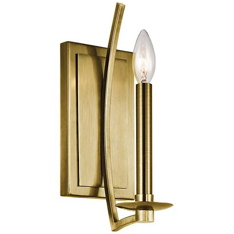 "Kichler Grayson 12 1/2"" High Natural Brass Wall Sconce"