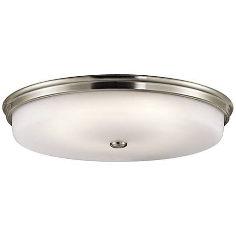 "Kichler Jefferson 24"" Wide Brushed Nickel LED Ceiling Light"
