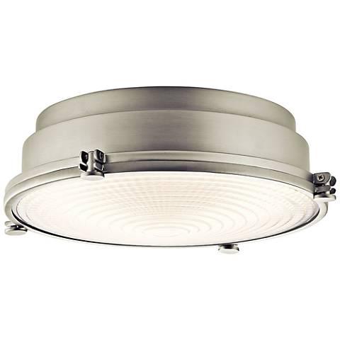 """Hatteras Bay 13 1/4"""" Wide Brushed Nickel LED Ceiling Light"""