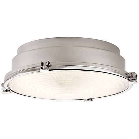 """Hatteras Bay 13 1/4"""" Wide Polished Nickel LED Ceiling Light"""