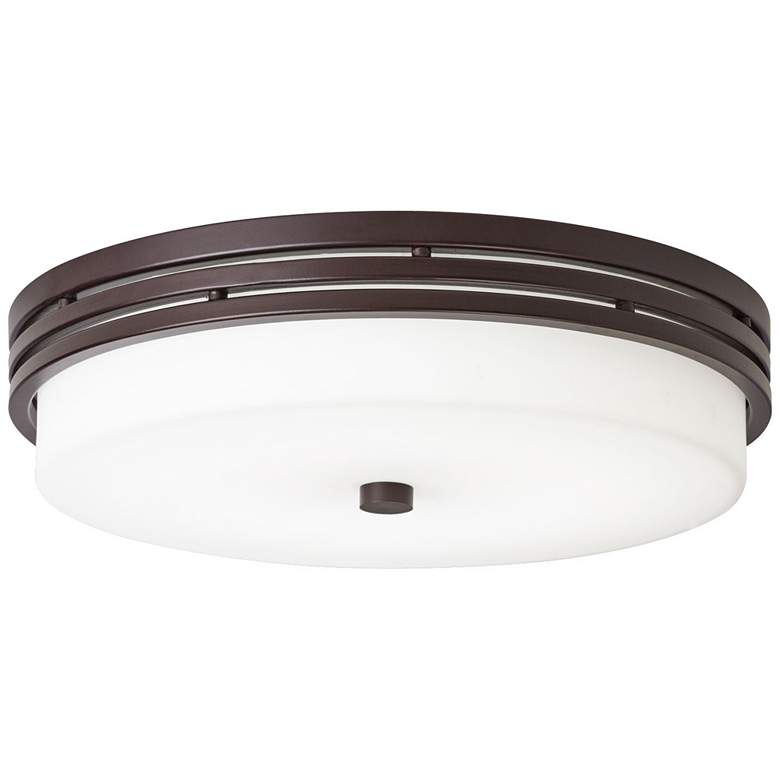 """Kichler Witherow 14"""" Wide Olde Bronze LED Ceiling Light"""
