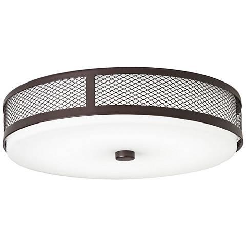 "Kichler Wilmont 13 1/4"" Wide Olde Bronze LED Ceiling Light"
