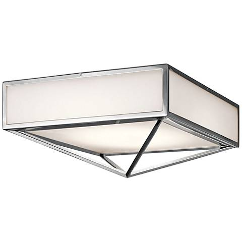 "Kichler Savoca 18"" Wide Chrome LED Ceiling Light"