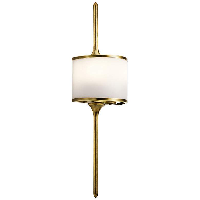"Kichler Mona 22"" High Natural Brass 2-Light Wall Sconce"