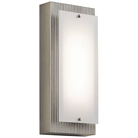 "Kichler Vego 12"" High Brushed Nickel LED Wall Sconce"