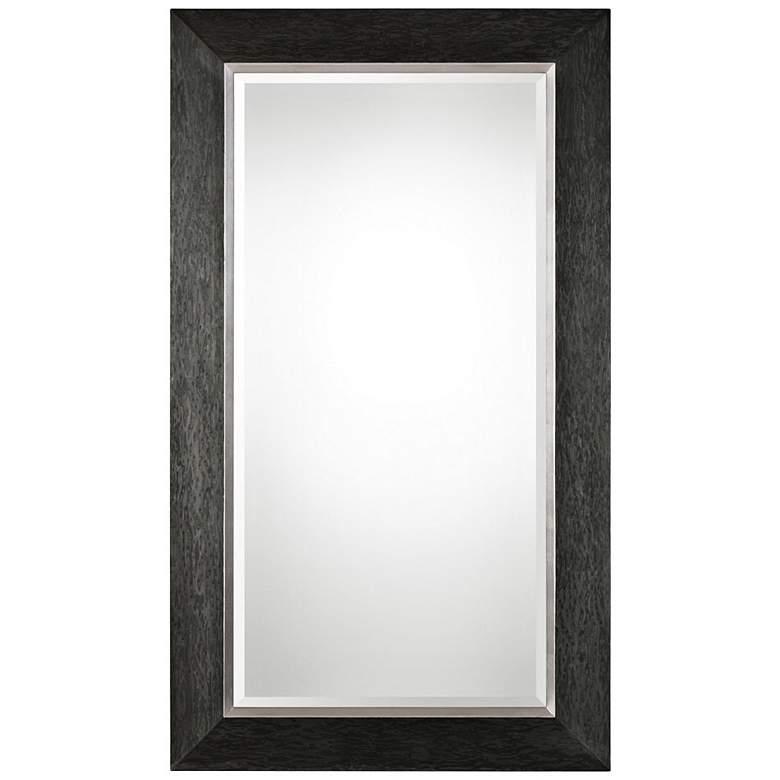 """Uttermost Creston Black 41 1/2"""" x 71 1/2"""" Wood Floor Mirror"""