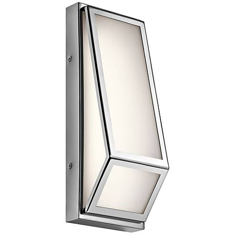 "Kichler Savoca 13 1/2"" High Chrome LED Wall Sconce"