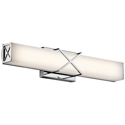 "Kichler Trinsic 22""W Chrome 2-Light LED Linear Bath Light"