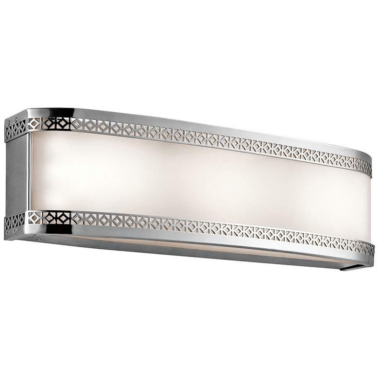 """Kichler Contessa 18""""W Chrome 3-Light LED Linear Bath Light"""