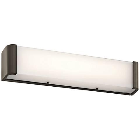 "Kichler Landi 24""W Olde Bronze 2-Light LED Linear Bath Light"