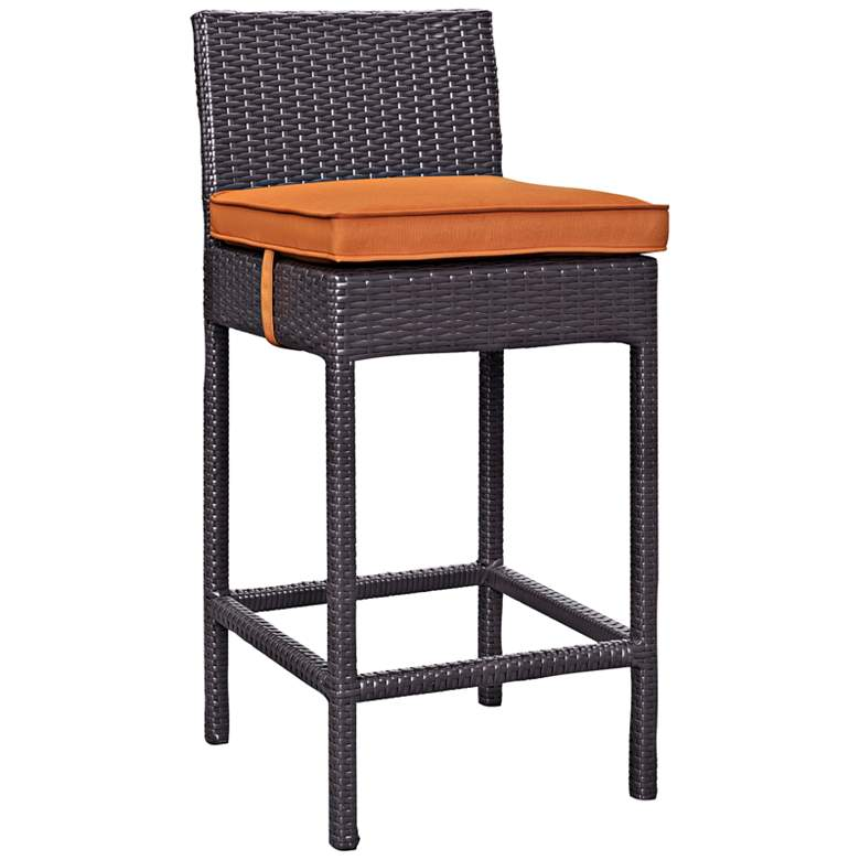 "Lift 27 1/2"" Orange Fabric Espresso Outdoor Patio"