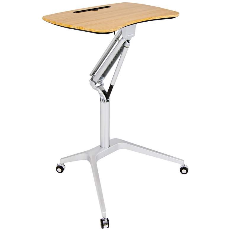 "Calico Designs 28"" Wide Adjustable Sit-Stand Mobile Desk"