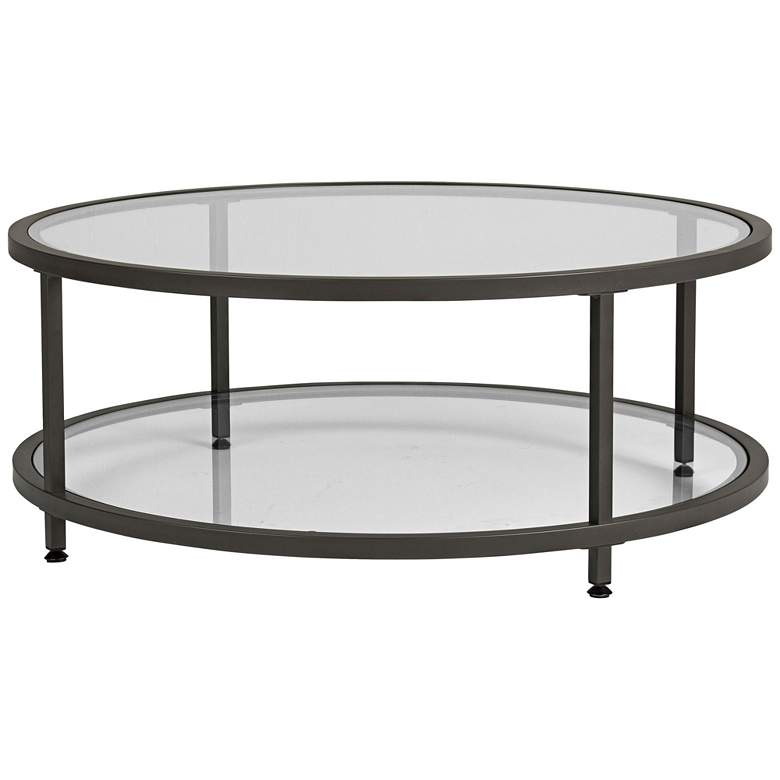 "Studio Designs 38"" Wide Glass Coffee Table"