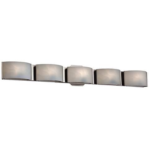 "Eurofase Dakota 33 1/2"" Wide Chrome 5-Light LED Bath Light"