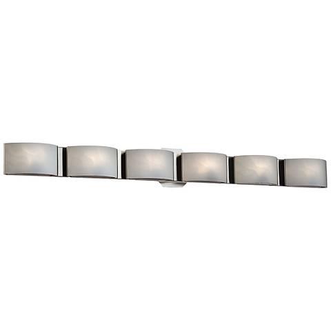 "Eurofase Dakota 40 1/2"" Wide Chrome 6-Light LED Bath Light"