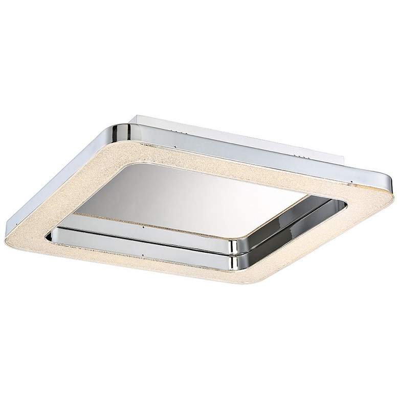 "Eurofase Zatina 14 1/4"" Wide Chrome LED Ceiling"