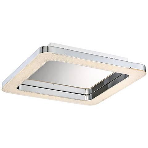 "Eurofase Zatina 14 1/4"" Wide Chrome LED Ceiling Light"