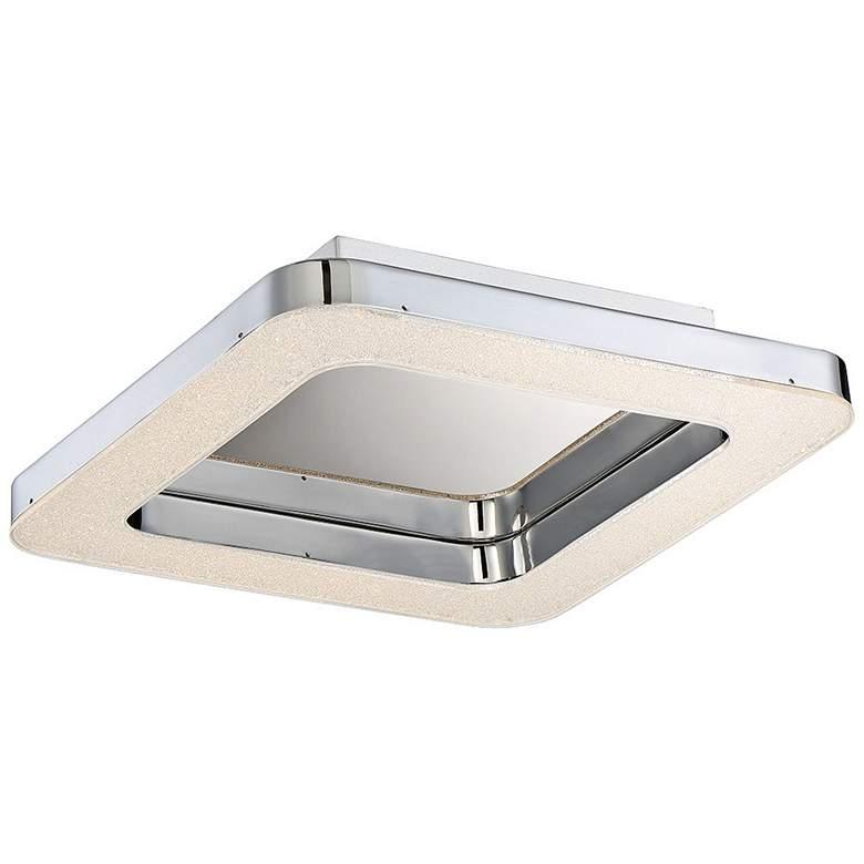 "Eurofase Zatina 18"" Wide Chrome LED Ceiling Light"