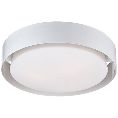 """Eurofase Saturn 15 1/2"""" Wide White LED Ceiling Light"""