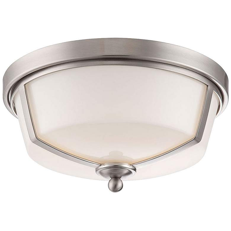 "Eurofase Kate 12""W Satin Nickel 2-Light LED Ceiling"