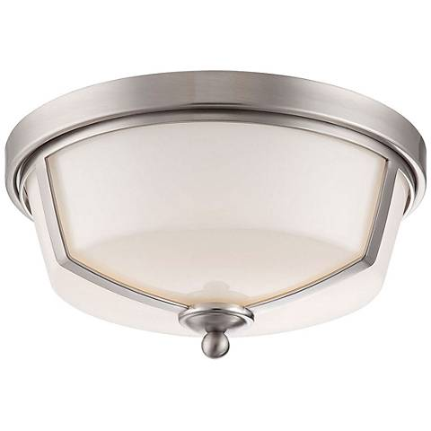 "Eurofase Kate 12""W Satin Nickel 2-Light LED Ceiling Light"