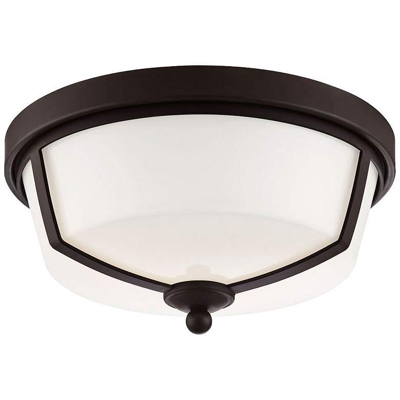 """Eurofase Kate 12"""" Wide Bronze 2-Light LED Ceiling Light"""