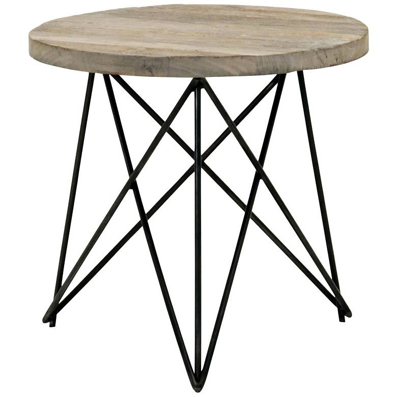 """Canvas 24 1/2"""" Wide Smoke Gray Modern Accent Table"""