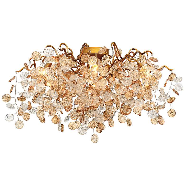 "Eurofase Campobasso 27 1/4"" Wide Gold 7-Light Ceiling"