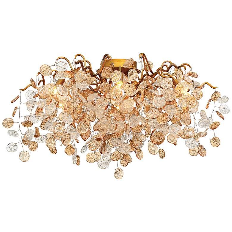 "Eurofase Campobasso 27 1/4"" Wide Gold 7-Light Ceiling Light"