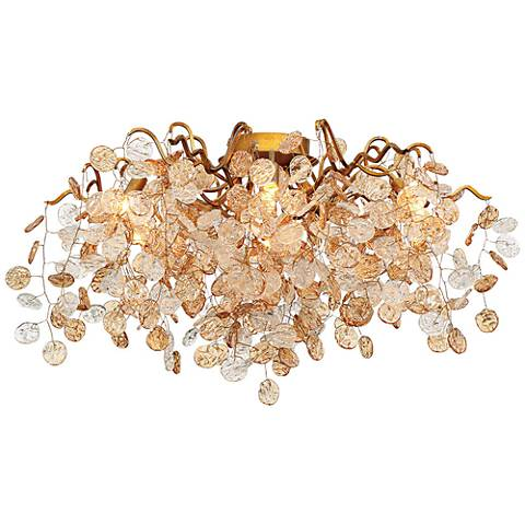 "Eurofase Campobasso 27 1/4"" Wide Gold 7-Light Ceiling Light"