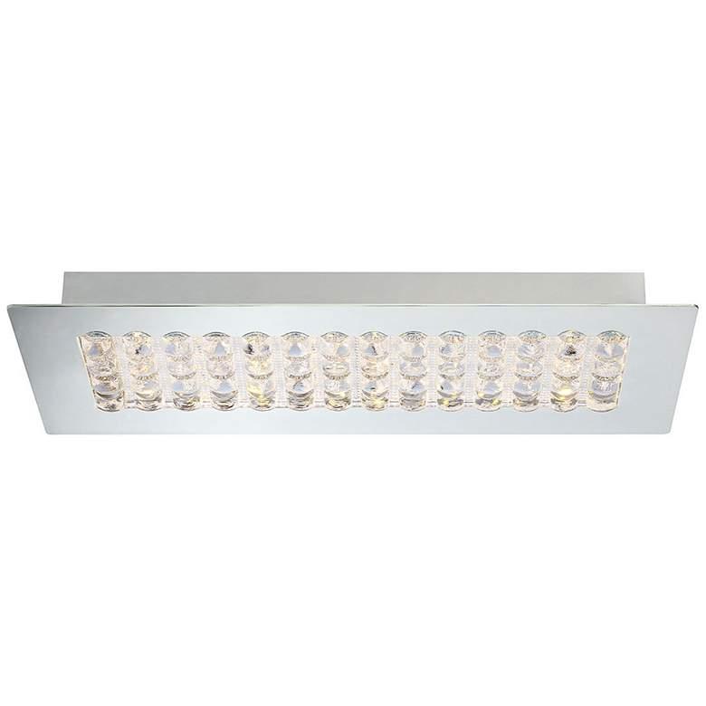 """Eurofase Denso 17 1/4"""" Wide Chrome 1-Light LED Ceiling Light"""
