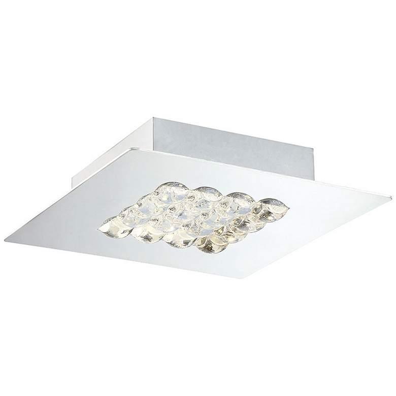"""Eurofase Denso 7 3/4"""" Wide Chrome 1-Light LED Ceiling Light"""